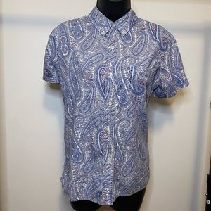Tommy Hilfiger Print Button Down Size Large - E8